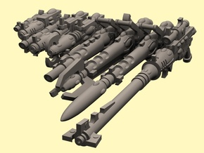 28mm Space Elf guns, Evil faction in Smoothest Fine Detail Plastic