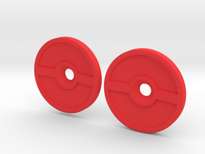 Spinner Caps (SD-PB) in Red Processed Versatile Plastic