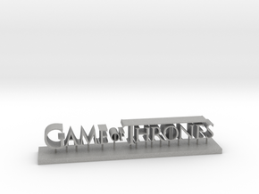 Logo game of thrones in Aluminum