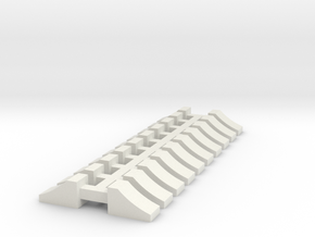 Wheel Chock - 10 sets 1-87 HO Scale in White Natural Versatile Plastic