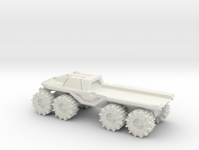 All-Terrain Vehicle closed cab with open cargo bed in White Natural Versatile Plastic