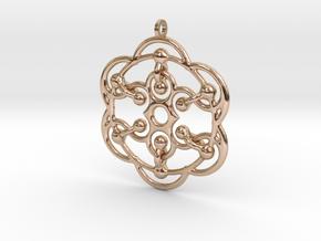 YyG6 Pendant in 14k Rose Gold Plated Brass