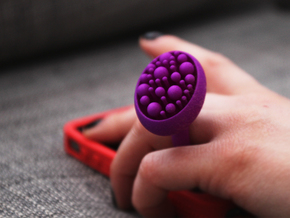 Bunch ring - size 5.5/16mm in Purple Processed Versatile Plastic