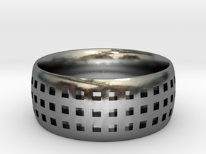 Trypophobia Ring in Polished Silver: 6 / 51.5