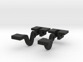Bonnet Hinge 1/10 in Black Natural Versatile Plastic