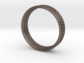 RingDot in Polished Bronzed Silver Steel: 5 / 49