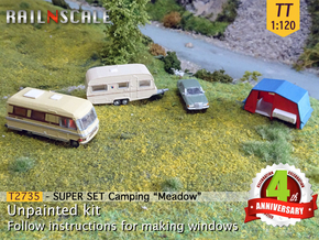 SUPER SET Camping Meadow (TT 1:120) in Smooth Fine Detail Plastic