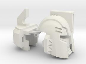 Sledgehammer Head for Universal Warpath in White Natural Versatile Plastic