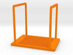 Stackable shelf in Orange Processed Versatile Plastic