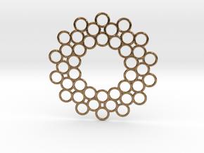 Circle Around Pendant in Natural Brass