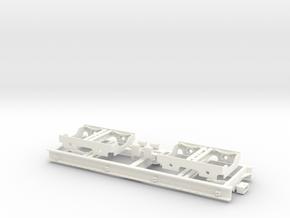 S1-114   5,5m-Rollwagen Spur 1e in White Processed Versatile Plastic