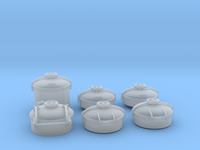 1/45 Conning Tower Hatches Kit in Smooth Fine Detail Plastic