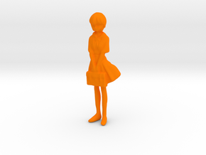 1/43 School Girl in Uniform in Orange Processed Versatile Plastic
