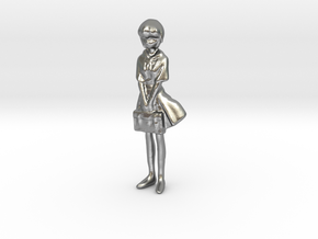 1/43 School Girl in Uniform in Natural Silver