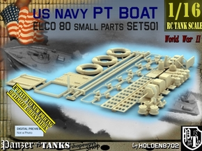 1/16 PT Boat Small Parts Set501 in Smooth Fine Detail Plastic