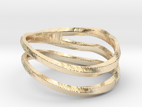 pentatwist waves ring in 14k Gold Plated Brass: 5.5 / 50.25