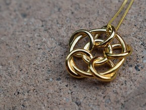 Interlock Pendant in 14k Gold Plated Brass