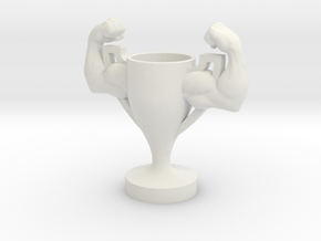 Trophy Armstrong Small Scale in White Natural Versatile Plastic
