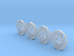 Tapacubos Del y tras r5Maxi (17mm) in Smooth Fine Detail Plastic