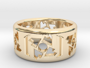 Random Ring in 14k Gold Plated Brass