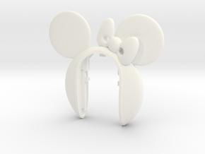 MINIE #7 key fob  in White Processed Versatile Plastic