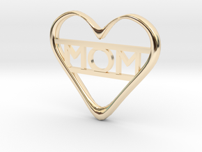 Mom's Heart in 14k Gold Plated Brass