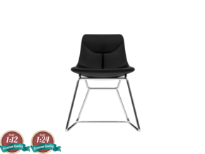 Miniature Corina Chair - Ludovica & Roberto Palomb in Smooth Fine Detail Plastic: 1:24