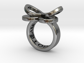 AMOUR petite in polished silver  in Polished Silver: 3 / 44