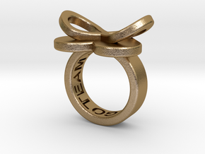 AMOUR petite in polished gold steel in Polished Gold Steel: 3 / 44
