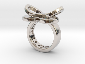 AMOUR petite in rhodium plated in Rhodium Plated Brass: 3 / 44