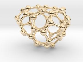 0629 Fullerene c44-7 d1 in 14k Gold Plated Brass