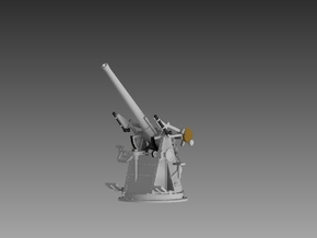 "QF 3"" 20 cwt AA Gun 1/72 in Smooth Fine Detail Plastic"