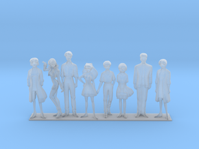 1/43 NERV Team Families and Friends in Smooth Fine Detail Plastic