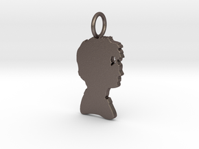 Harry Silhouette Pendant in Polished Bronzed Silver Steel
