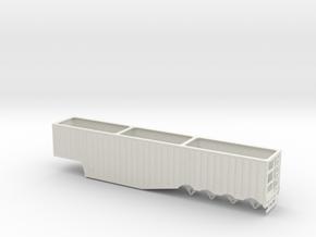 1/50th 53' Quad Axle Outside Rib Chip Trailer in White Natural Versatile Plastic
