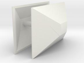 1/64th Semi Trailer Nose Cone Air Dam (2) in White Natural Versatile Plastic