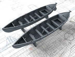 1/72 Royal Navy 27ft Whaler x2 in Smooth Fine Detail Plastic