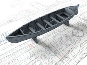 1/72 Royal Navy 27ft Whaler in Smooth Fine Detail Plastic
