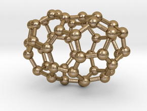 0630 Fullerene c44-1 c2 in Polished Gold Steel