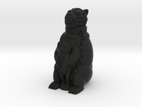 Staffordshire Bear in Black Natural Versatile Plastic