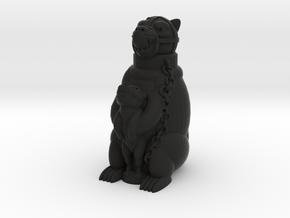 Staffordshire Bear in Black Natural Versatile Plastic