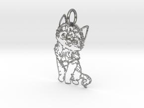 creative pendant cat in Natural Silver