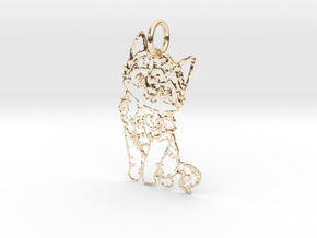 creative pendant cat in 14k Gold Plated Brass