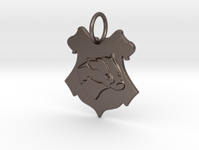 Hufflepuff Badger Crest in Polished Bronzed Silver Steel