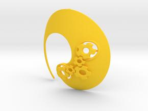 Enso No.1 Pendant (large) in Yellow Processed Versatile Plastic