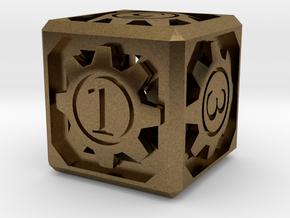 D6 - Clockwork in Natural Bronze (Interlocking Parts)