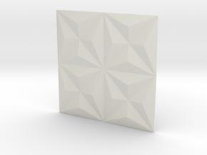 3d Tile_1_metal in White Natural Versatile Plastic