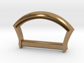 """1"""" D Ring in Natural Brass"""