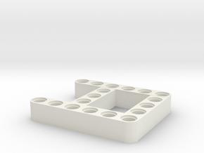 I2 Beam in White Natural Versatile Plastic