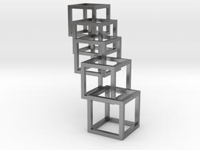 Interlocking Cube Necklace 5 in Natural Silver (Interlocking Parts)